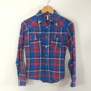 Spell & The Gypsy Collective Plaid Flannel Shirt S